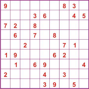 Судоку в юности - латинский квадрат